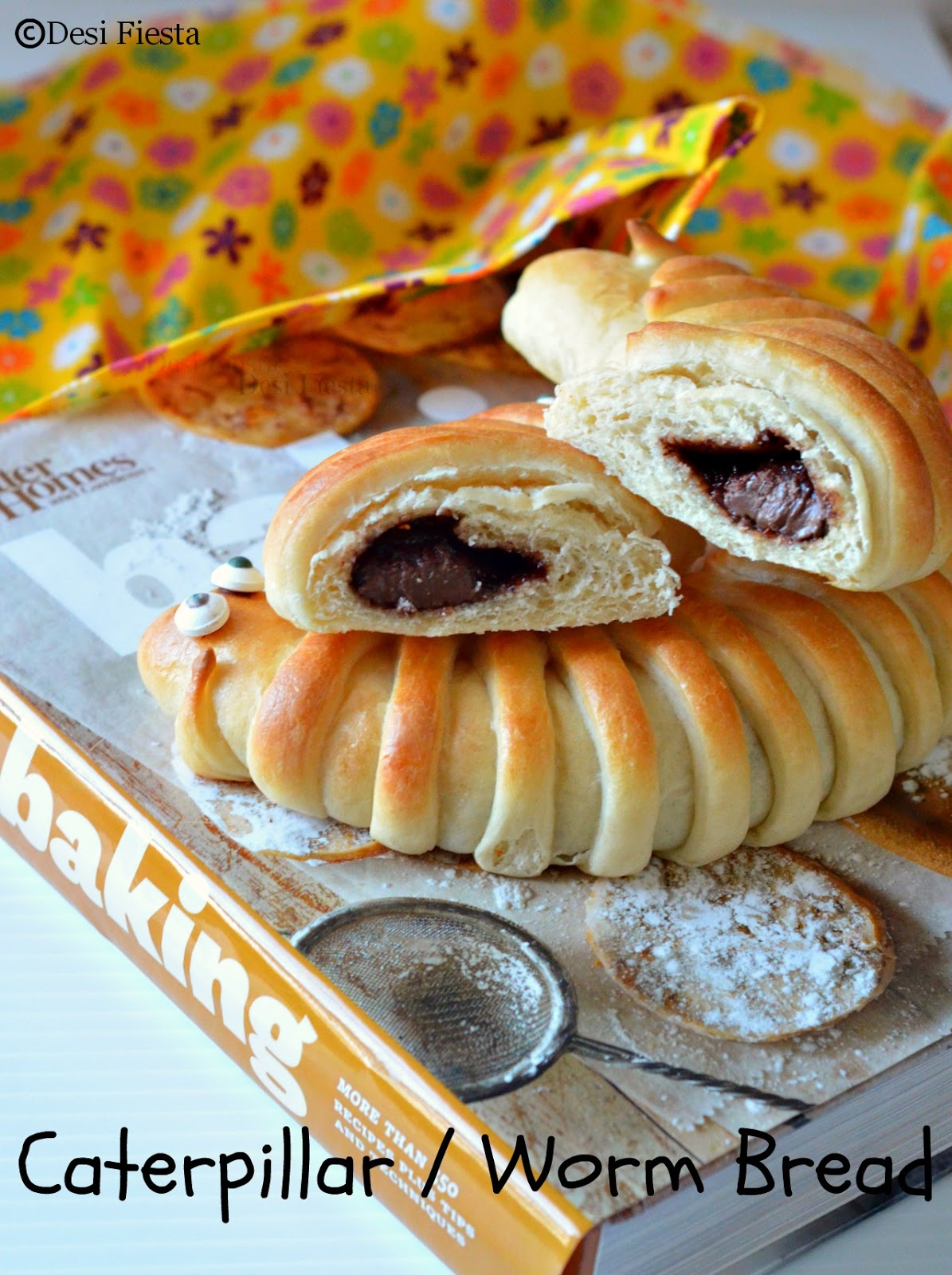Worm bread with nutella
