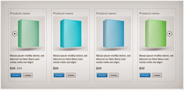 Product slider PSD