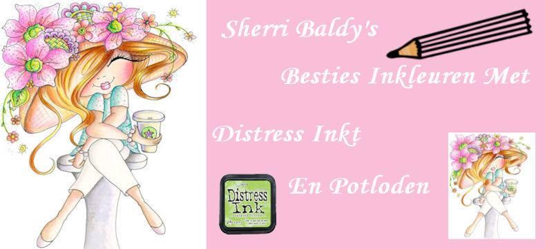 My Besties kleuren met potloden en distress Blog vind je hier !