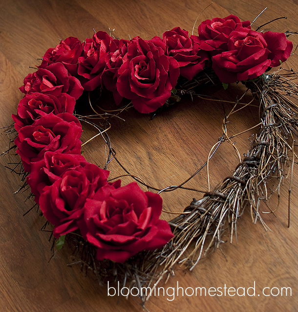 Valentine Wreath Blooming Homestead