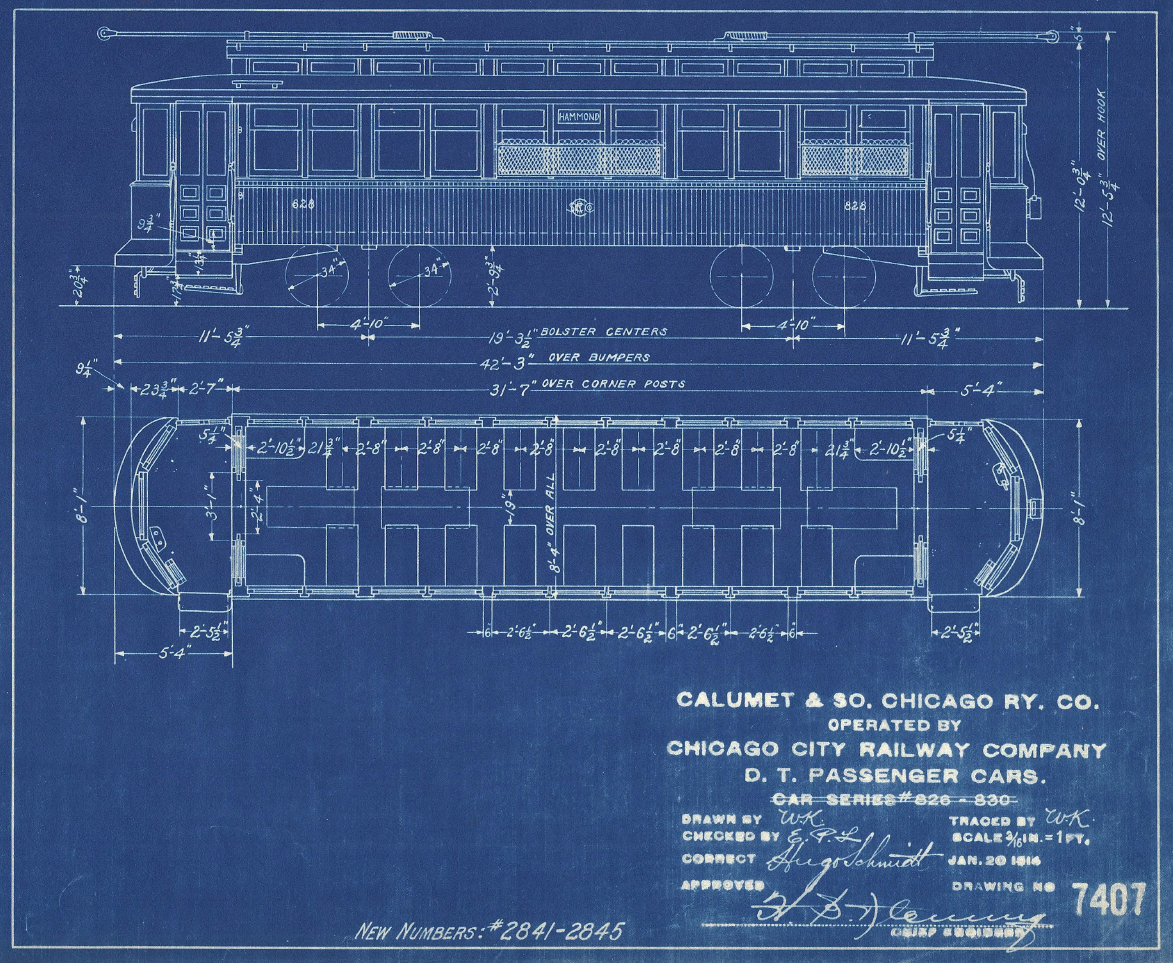 CERA Chicago - History of Chicago Surface Lines 2843