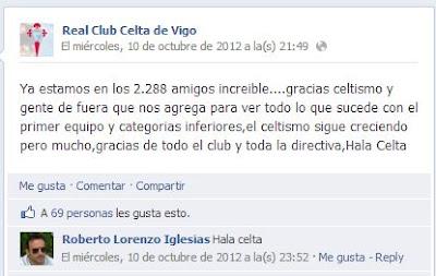 La cuenta falsa escribe en nombre del club y su directiva