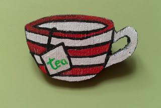 DIY: Broche taza café con té