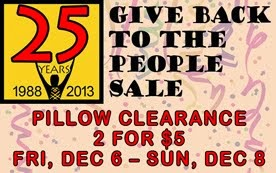 Enjoy our 25th Anniversary <br>Give-Back Specials <br>all month in December!