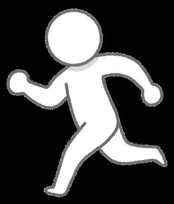 走っている人のイラスト(棒人間)