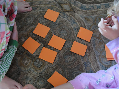 kids playing animal memory game