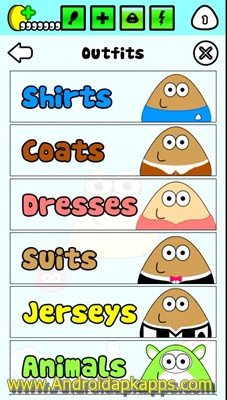 Download Game POU 1.4.67 Mod Apk Terbaru 2015 (Unlimited Money Coins) Gratis Free