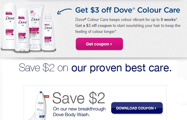 Dove coupons soap capture one 10 voucher for Siti dove regalano cose