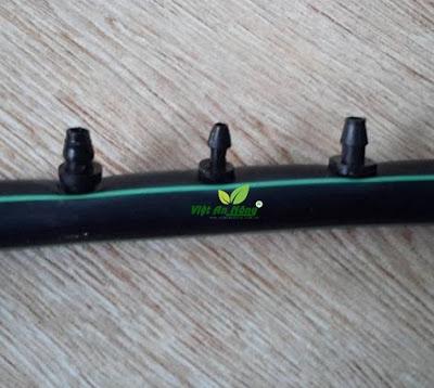Khớp nối dây dẻo 5 li - Nối thẳng ống đen 5mm.