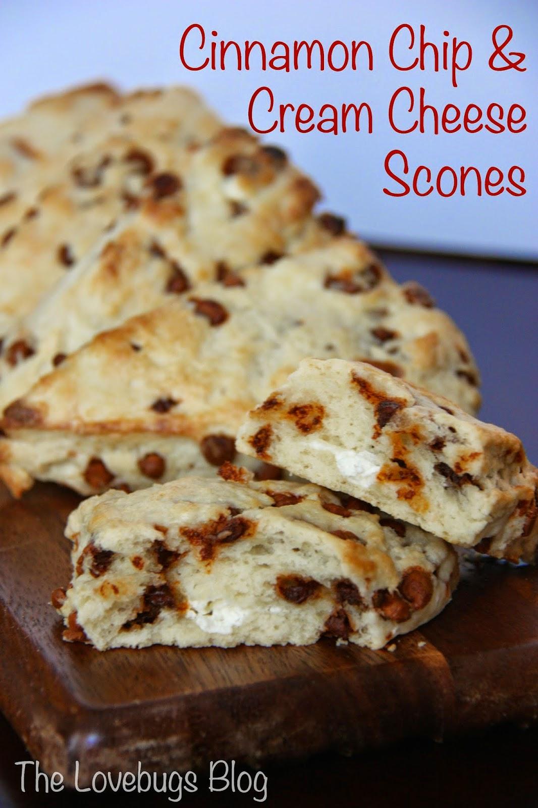 Cinnamon Chip & Cream Cheese Scone Recipe