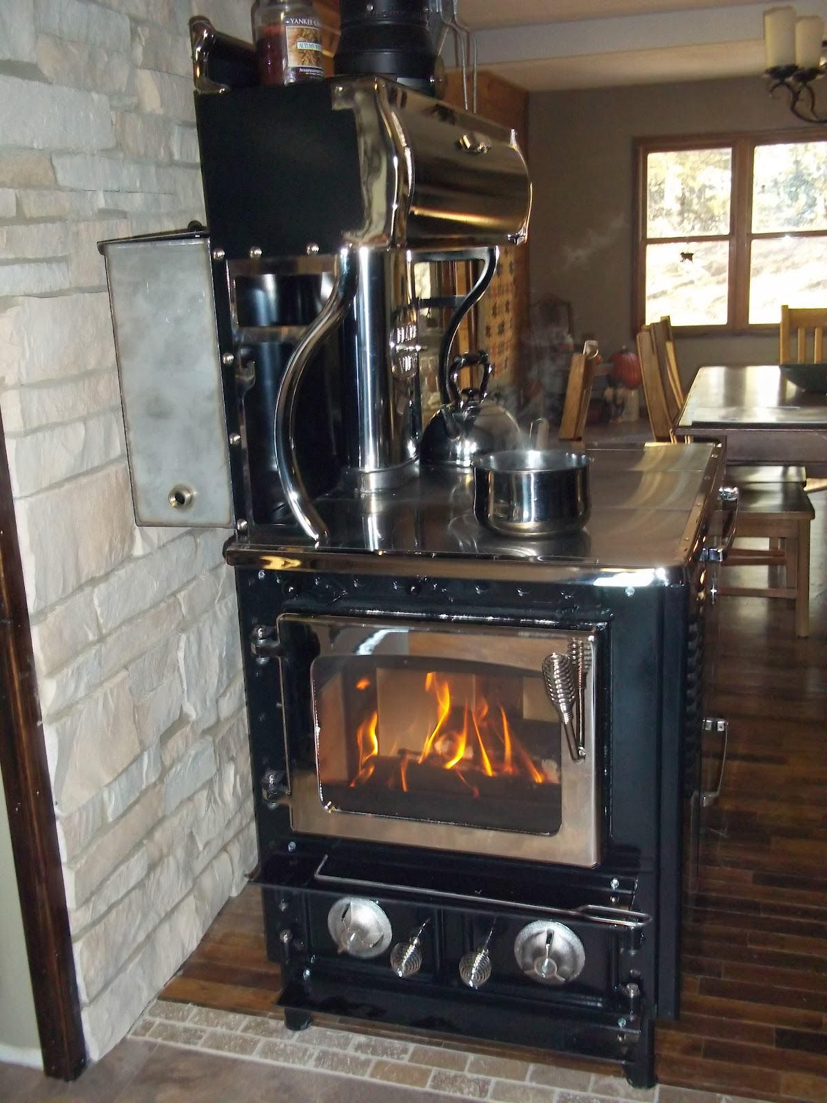 to using a wood stove. I have never lived in a home with a wood stove ...