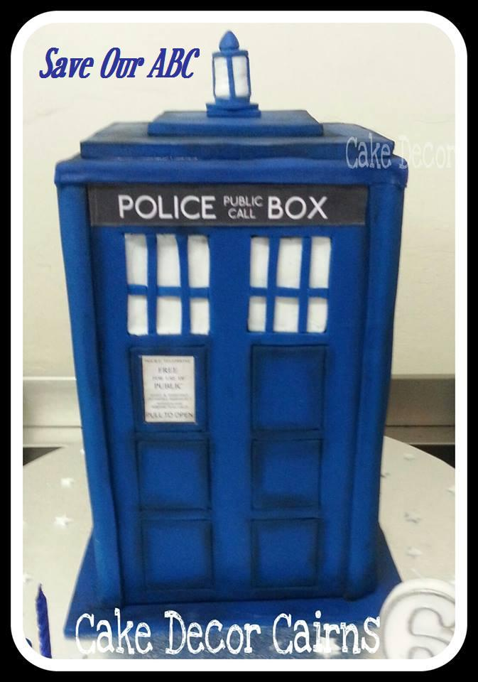 Doctor Who TARDIS Police Box Cake  Save Our ABC