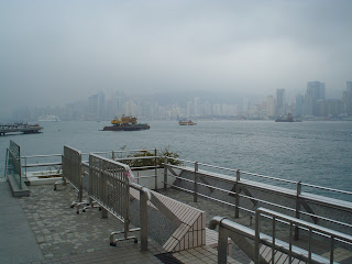 victoria harbor in the fog