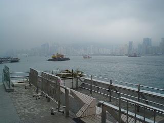 victoria harbor in the fog