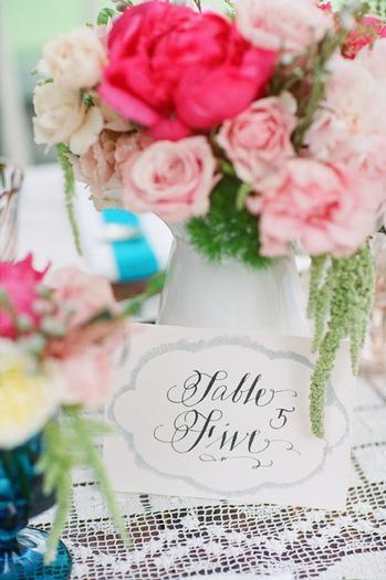 blue table decor