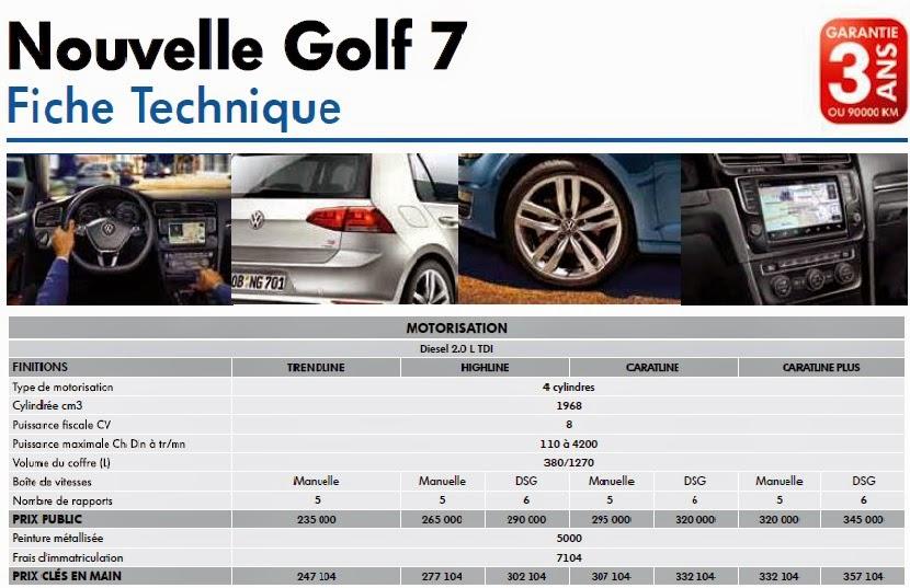 le prix et le fiche technique de nouvelle volkswagen golf 2014 au maroc wifi wireless routers. Black Bedroom Furniture Sets. Home Design Ideas