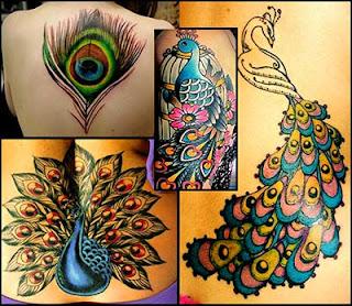 Ideias e desenhos de tatuagenm de pavão legal