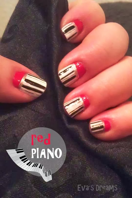 Nail of the week: Nail Art - Red Piano