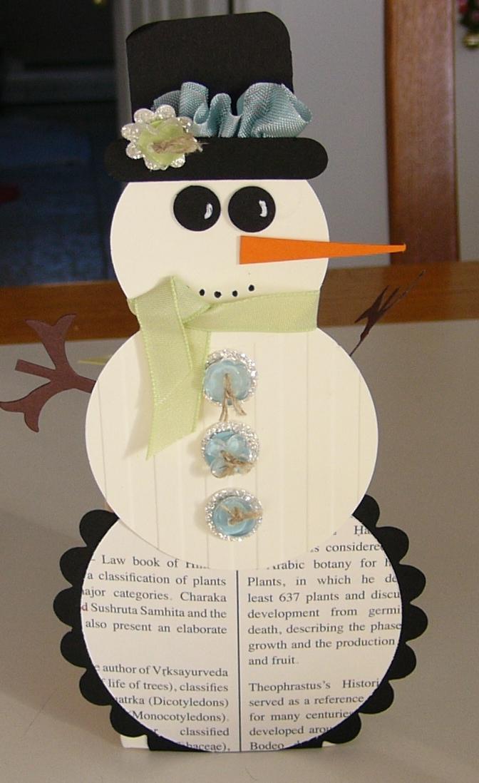 Scrapentramie novembre 2012 - Bonhomme de neige en papier ...