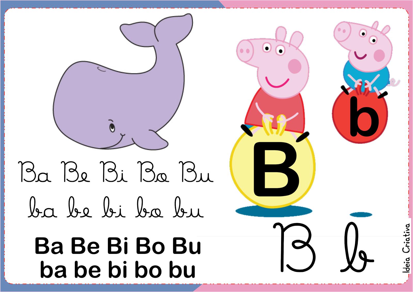 Silabário Peppa Pig para imprimir Grátis