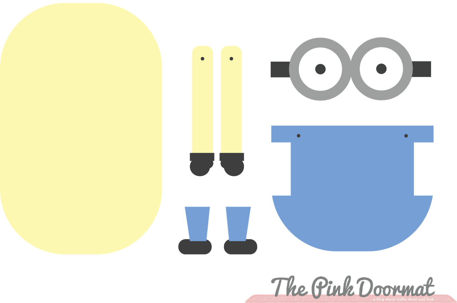 Minion Template | The Pink Doormat Minion Paper Doll