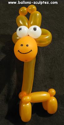 girafe en ballons