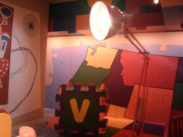 pixar lamp and ball. The signature Pixar lamp