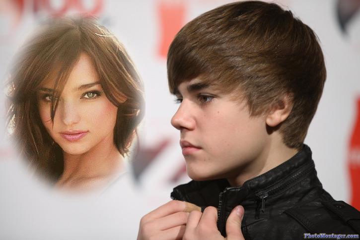 Fotomontaje de Justin Bieber con una chica. - fotoefectos.com
