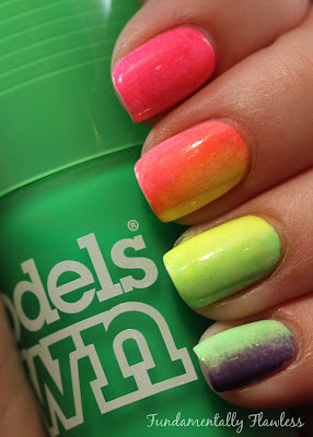 Fundamentally Flawless: Models Own Ice Neon Toxic Apple Gradient Nails