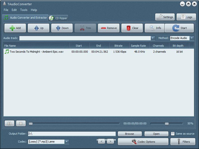 تنزيل برنامج TAudioConverter لتحويل صيغ الصوت كامل