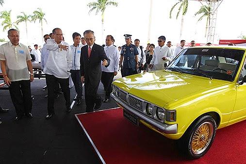 Aquino in Mitsubishi inaugural launch Laguna