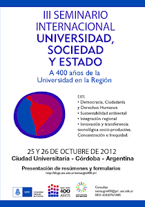 Universidad, Sociedad y Estado.