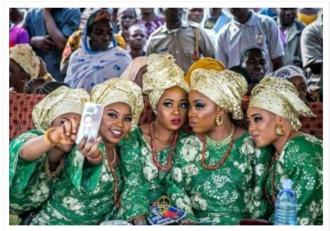 Wives Of Alaafin Of Oyo Take Selfie Together (Photo)