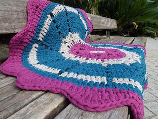 alfombra a crochet
