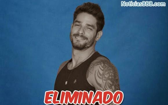 Diego é eliminado do BBB14 com 61% dos votos