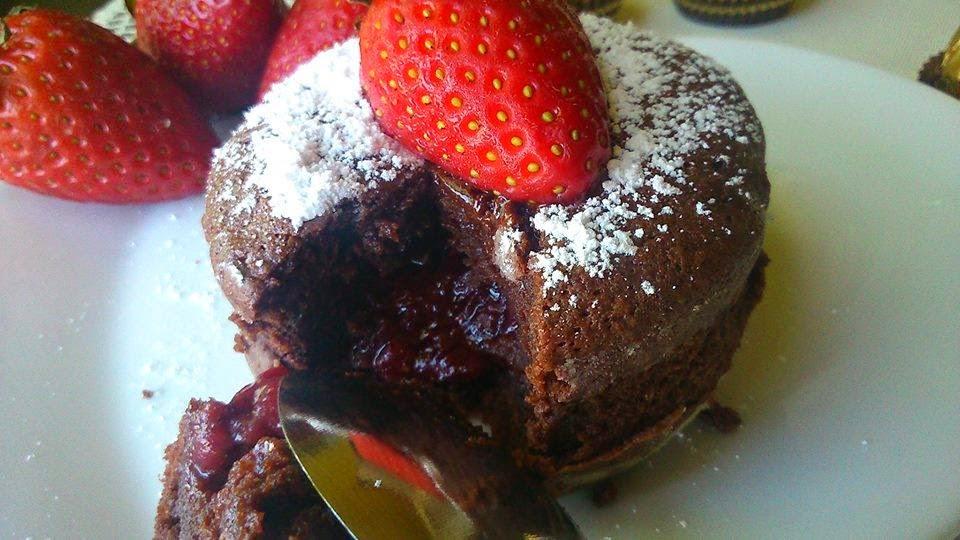 Recette du moelleux au chocolat cœur à la fraise