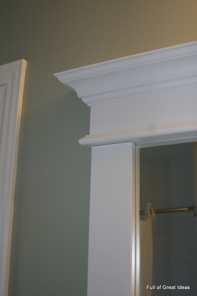 Framing Bathroom Mirrors With Crown Molding full of great ideas: framing a builder grade mirror that is not