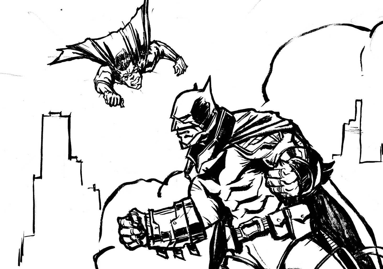 Batman V Superman Coloring Book Colouring Pages Page