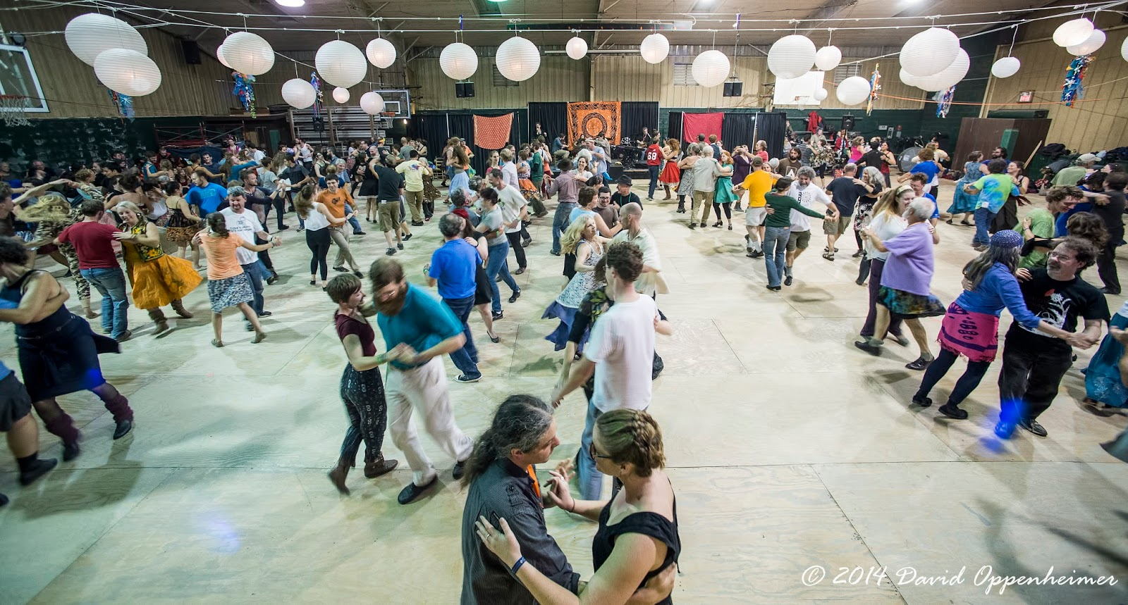 Contra dancing at LEAF Festival
