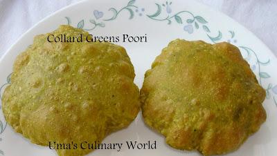 collard greens poori