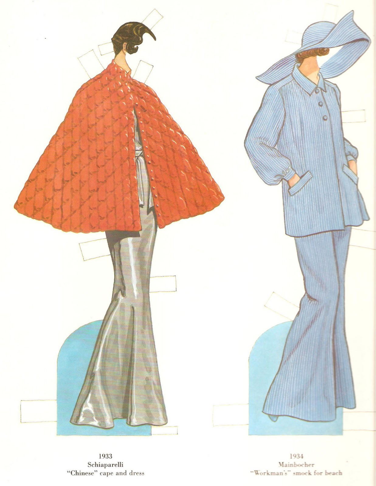 Ert Fashion Paper Dolls of the Twenties (Dover Paper) French fashion designers paper dolls