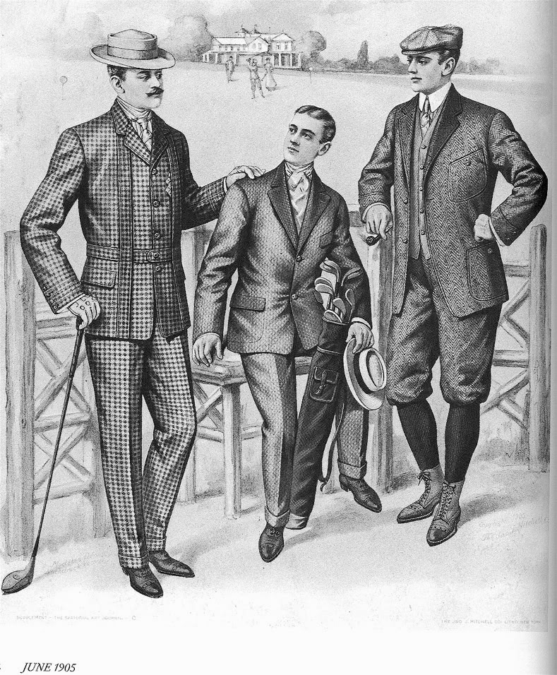 Golfing suits for men, 1905