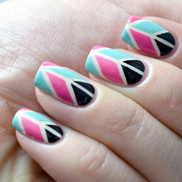 http://www.glitterandglossnails.com/2013/04/pink-and-teal-geometric-striping-tape.html
