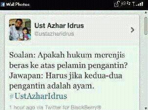 Twitter ini bukan milik Ustaz Azhar Idrus