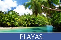 Playas exóticas y paradisiacas de distintas partes del mundo con arenas blancas y aguas de color turquesa