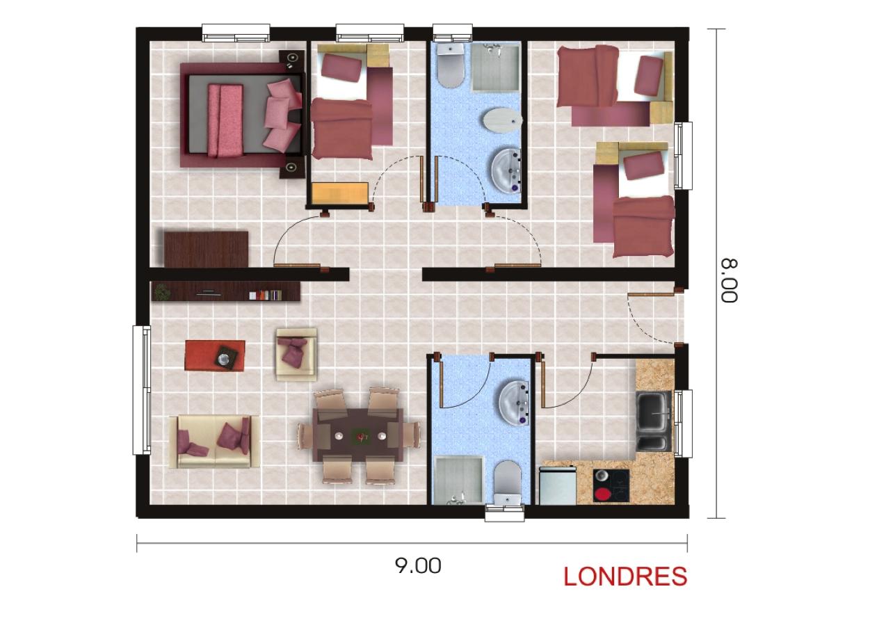 Casas prefabricadas y modulares planos standard - Planos casas modulares ...