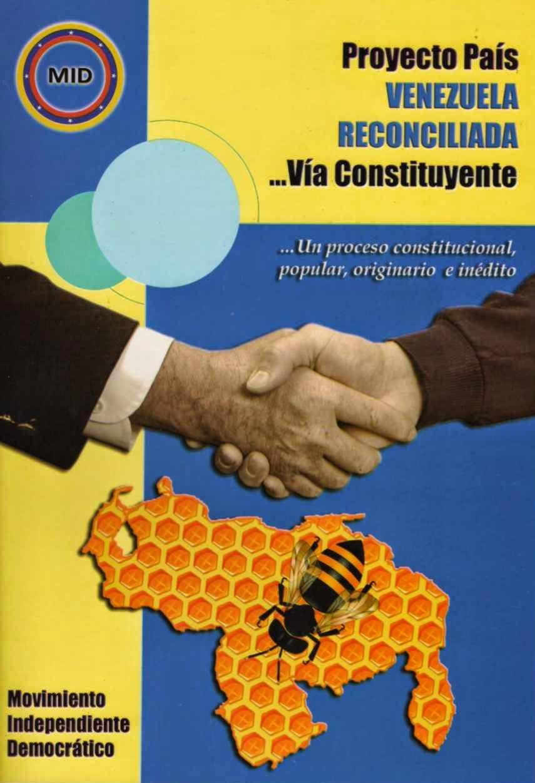 Portada del Libro Proyecto País Venezuela Reconciliada...Vía Constituyente