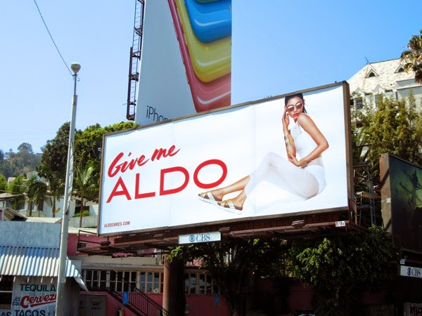 Give me Aldo shoes Ming Xi billboard