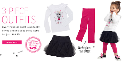 New Kids Clothing Monthly Subscription Box Alert! FabKids - Plus 50% Off Coupon Code!
