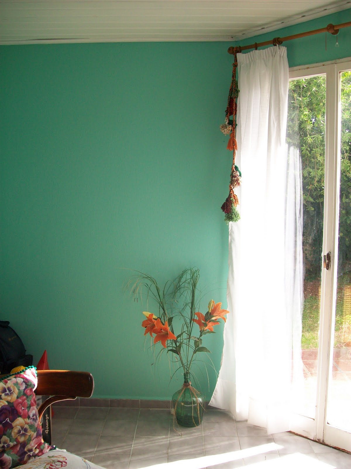 Cortinas de ba o hechas a mano - Cortina para ventana de bano ...
